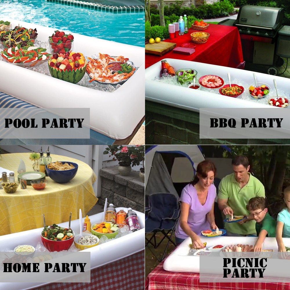 """Cheflikes 2Pcs Inflatable Serving Bar 