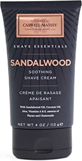 product image for Caswell-Massey Sandalwood Soothing Shave Cream – All Natural Shaving Cream Made In USA - 4 Ounces