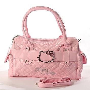 aa6efc110724 Hello Kitty Bolsa Acolchada Imitación Piel Bolsa Bolso de Shopping Tote  Cartera Rosa Bebe  Amazon.es  Juguetes y juegos