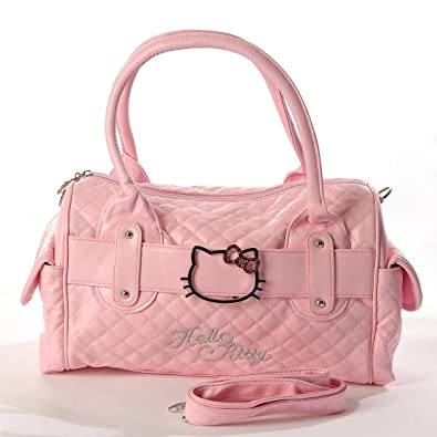 aa3e2729f Hello Kitty Quilted Faux Leather Shopping Bag Handbag Tote Purse Baby Pink:  Amazon.co.uk: Shoes & Bags