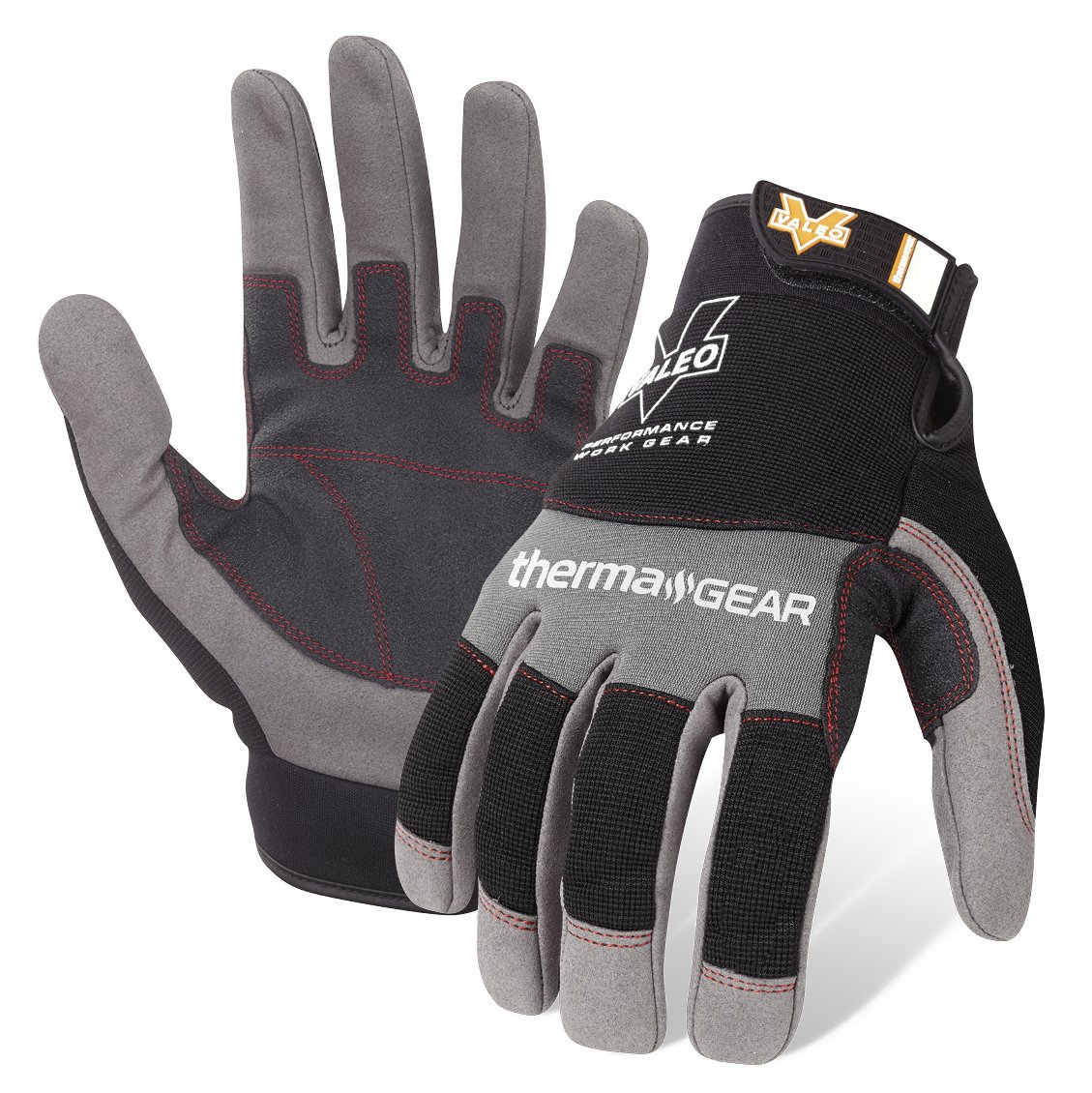 Valeo Industrial V720 ThermaGear Cold Weather Mechanics Gloves, VI9544, Pair,  Grey, XL