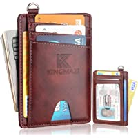 Slim Minimalist Front Pocket RFID Blocking Wallets, Credit Card Holder with Disassembly D-Shackle for Men Women