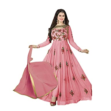 625c6c466d LADIES QUEEN Women's Georgette Lehenga Choli (Pink, Free Size): Amazon.in:  Clothing & Accessories