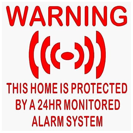 6 pegatinas de vinilo autoadhesivo para sistemas de alarma ...