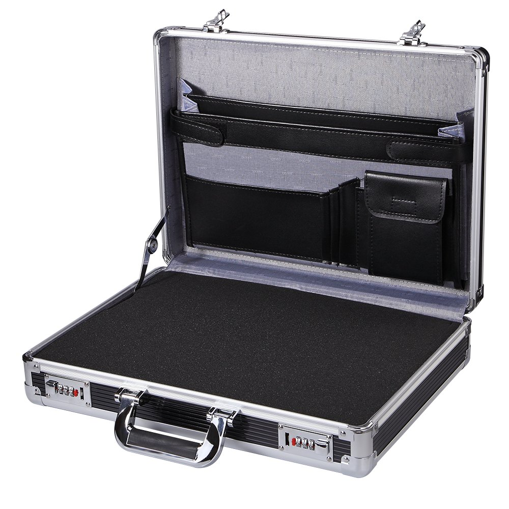 Professional Aluminum Hard Case ToolBox Large Briefcase Flight Carrying Case450LP-S-FOAM
