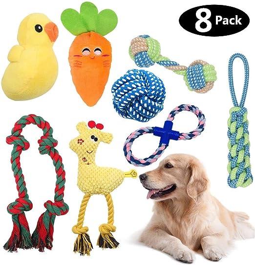 HomeMall Juguetes para perros pequeños medianos, juego de 8 ...