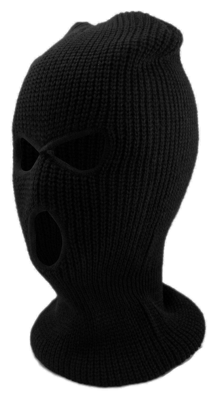 Enimay Three Hole Ski Snowboard Mask Winter Beanie Balaclavas Black