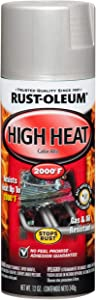 Rust-Oleum 248904 Paint Spray Hi Heat Alum 12Oz, 12 oz