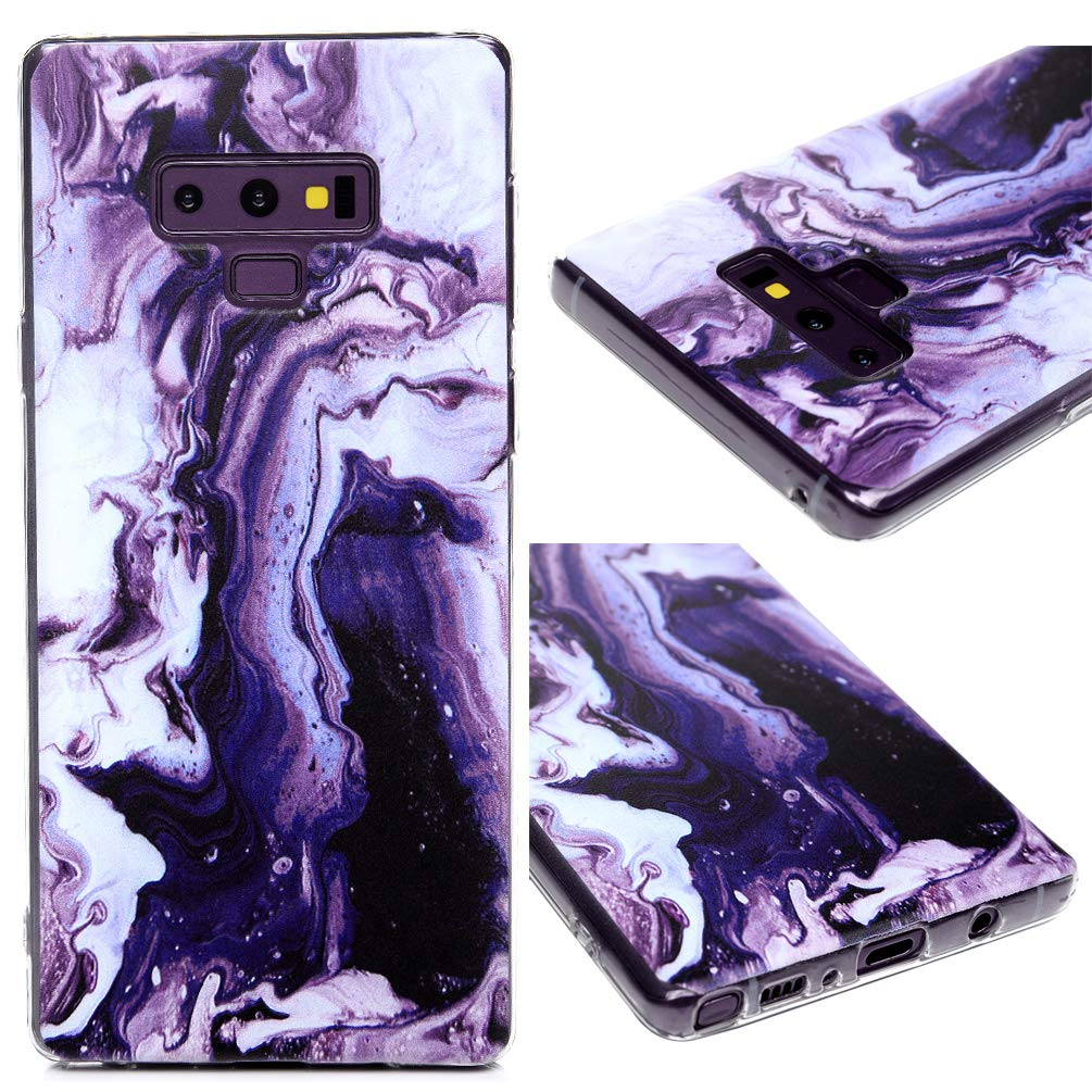 Galaxy Note 9 Case, Note 9 Case, Painted Anti-Fall Series Slim Fit Cover Full Body Protective Soft Flexible TPU Bumper for Samsung Galaxy Note 9 - Marble