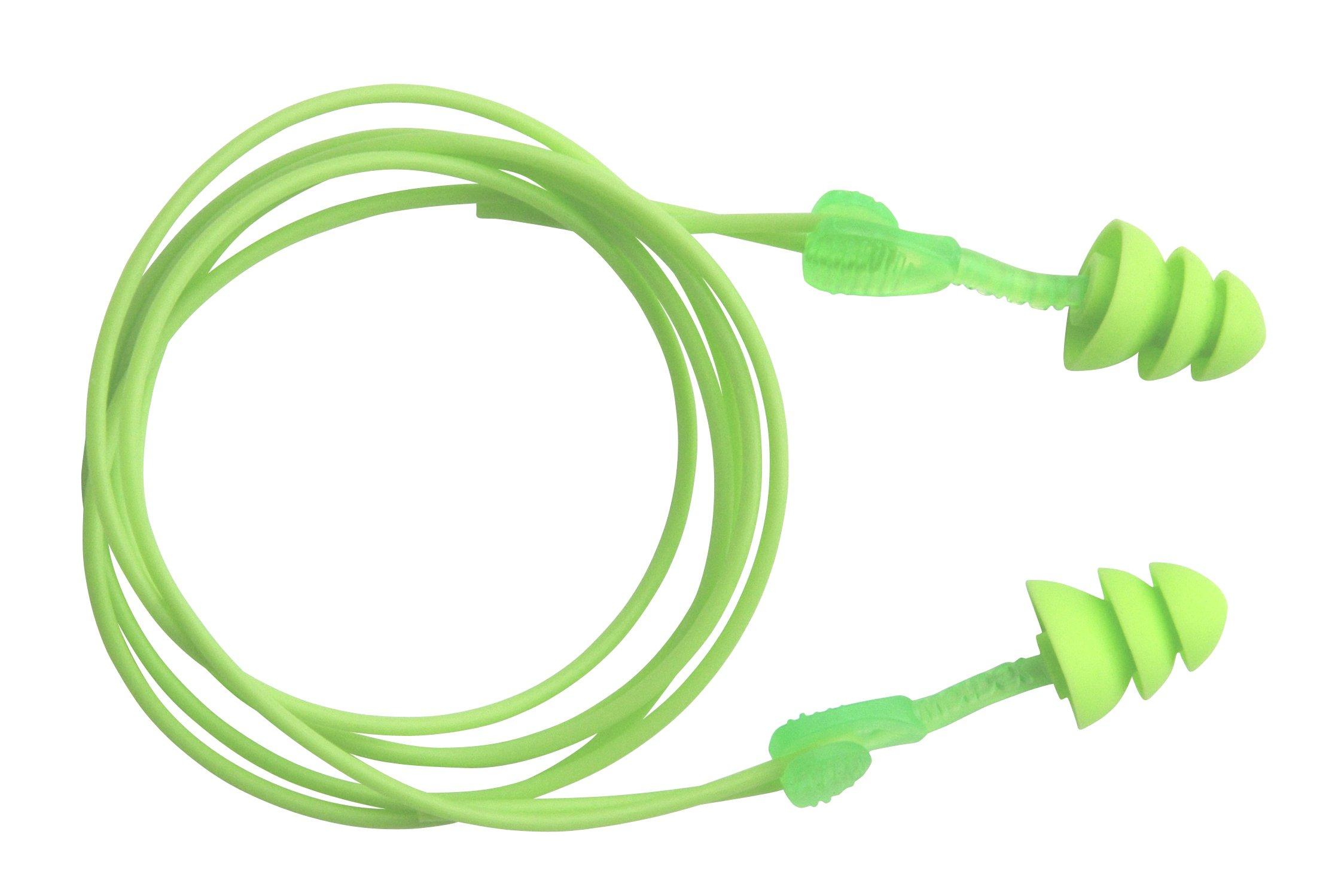 Moldex M6445 Corded Reusable Earplugs, Glide Trio Triple Flange (50 per Dispenser)