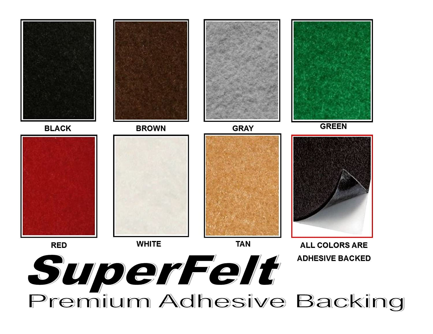 12' WIDE x 36'LONG ROLL SuperFelt - 1/16' THICK SELF ADHESIVE PROTECTIVE FELT - No Scratch - Premium Acrylic - Peel-N-Stick - Available in Multiple Colors (GREEN)