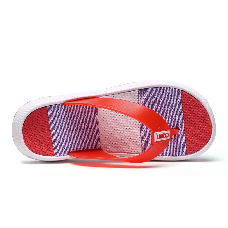 771de52086f10e ... H-Mastery Tongs Femme ete Flip Flop Fille Plage Chaussures Multicolore  Confort Piscine Pantoufles Sandales ...