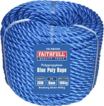 Faithfull - Cuerda para lona para lonas (tamaño: 8mm)