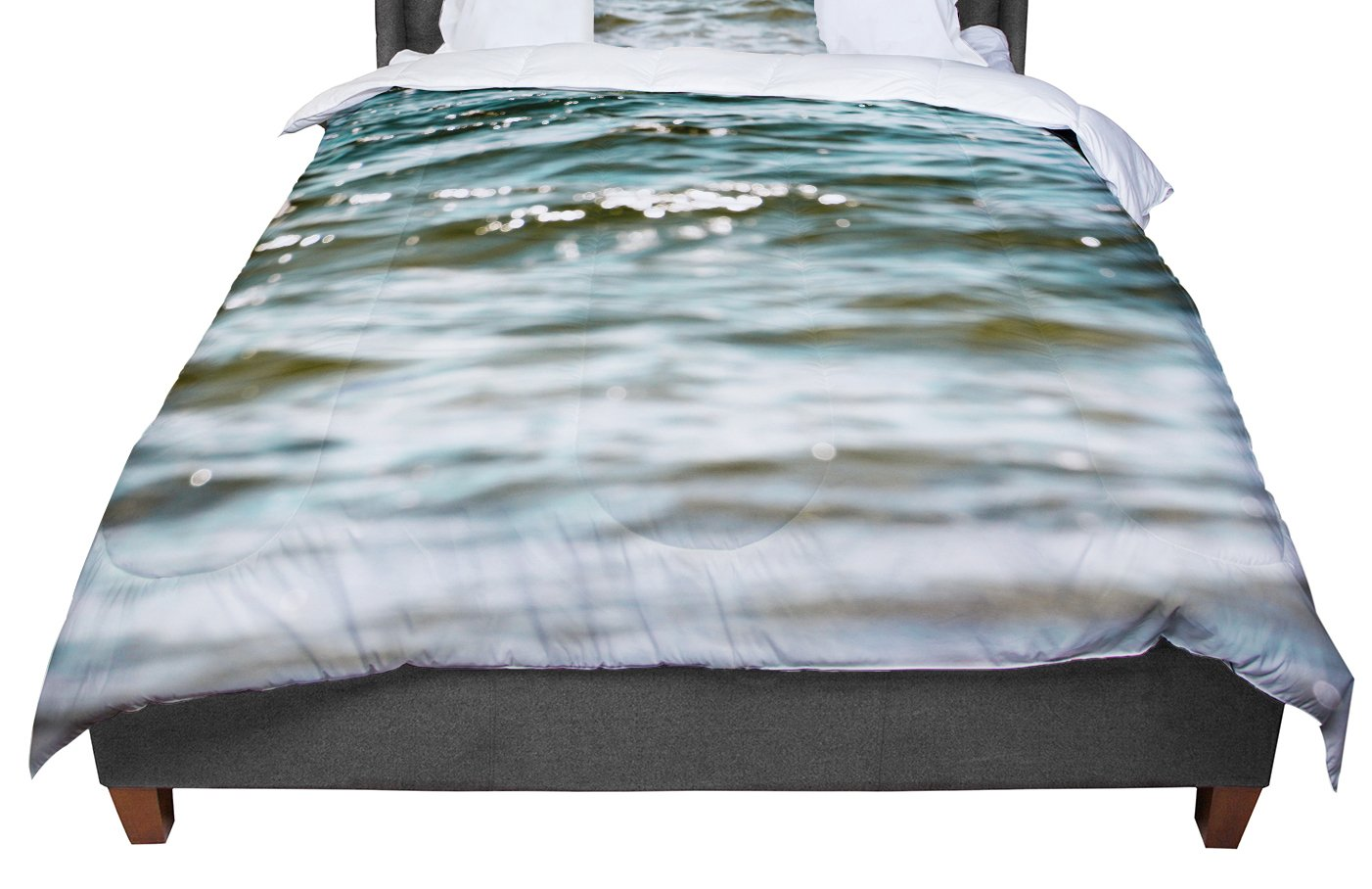 68 X 88 KESS InHouse Debbra Obertanec Turquoise Blue Green Water Twin Comforter