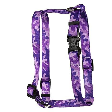 Amazon.com : Yellow Dog Design Camo Purple Roman Style H Dog Harness