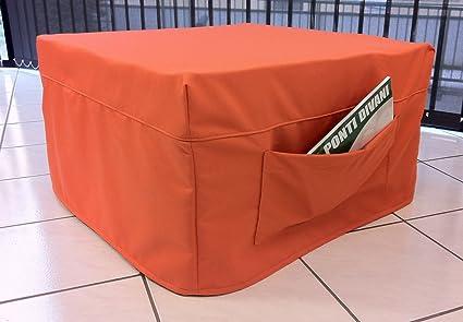Ponti Divani-SPEEDY-Puf cama de matrimonio con colchón de 10 cm de gran