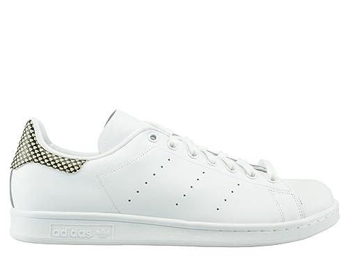 adidas Stan Smith S75319 Unisex - Adulto Scarpe Sportive, Bianco 41 EU