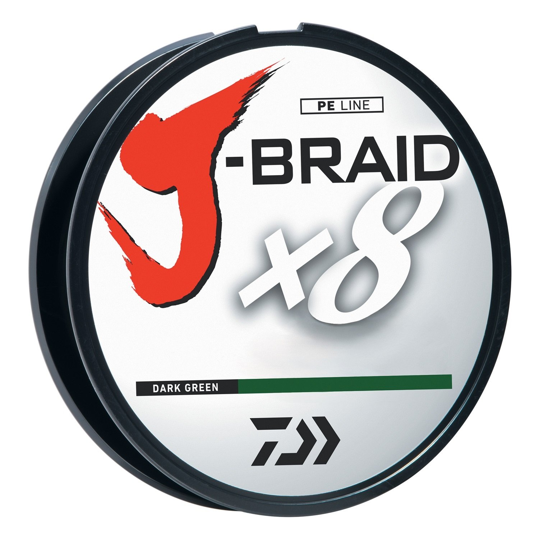 Daiwa J-Braidx8 JB8U150-2500DG 150 lbs Test, Dark Green, 2500 Meters/2750 Yards by Daiwa
