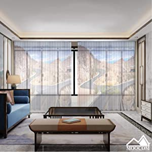MOOCOM Empty Twisting Roads and Intersection on The Road to Hoover Dam,Curtains for Living Room Room Curtains for Bedroom Sheer 118'' W x 106'' H