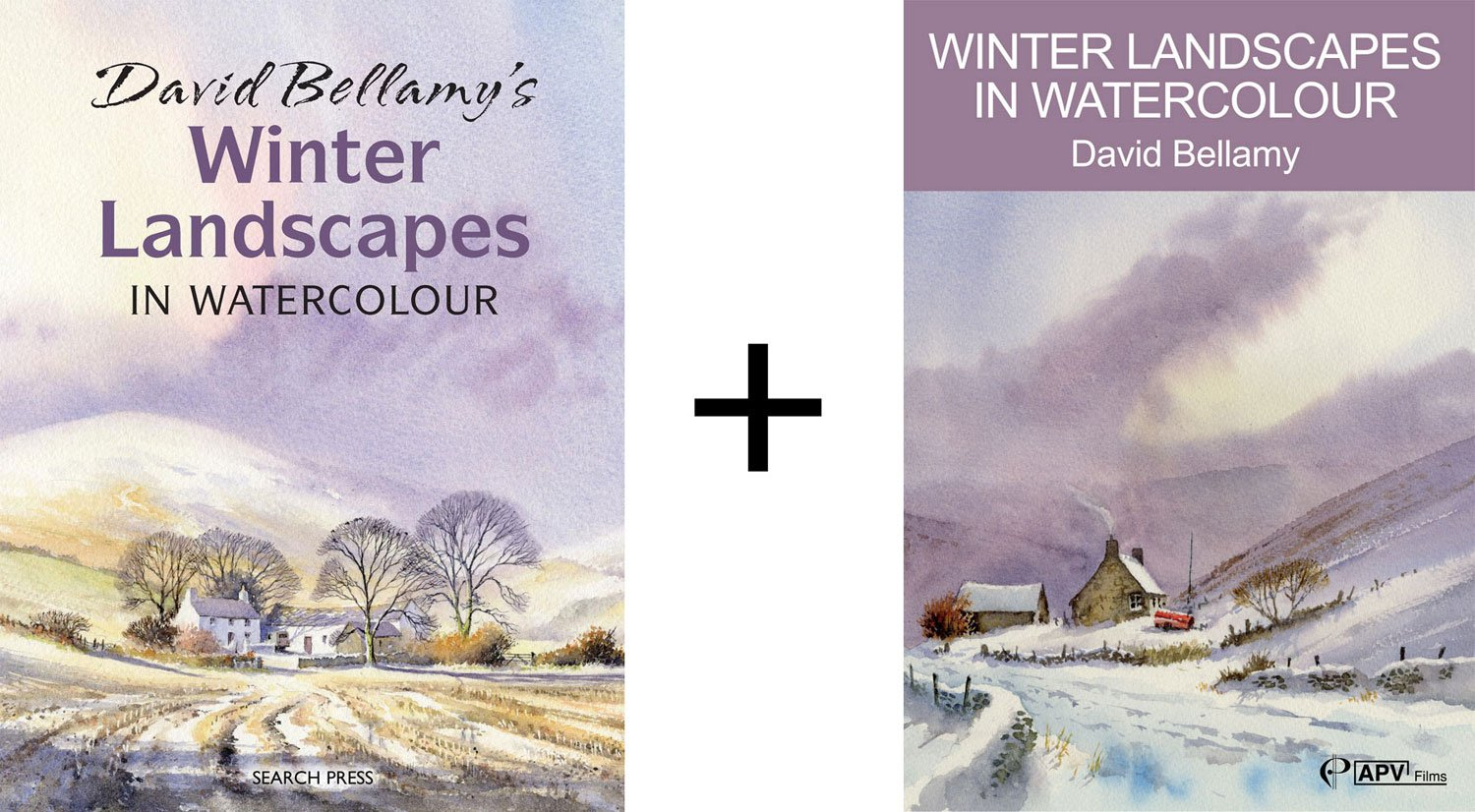 Watercolor books by search press - Winter Landscapes In Watercolour Book Dvd Set With David Bellamy Amazon Co Uk Kitchen Home