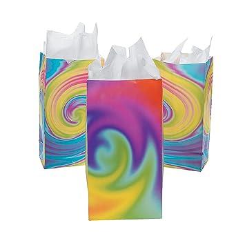 Amazon.com: Bolsas de papel con diseño de tintes de ...