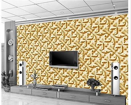 Parete Doro : Sykdybz sfondi per il salotto salotto 3d wallpaper fiore doro