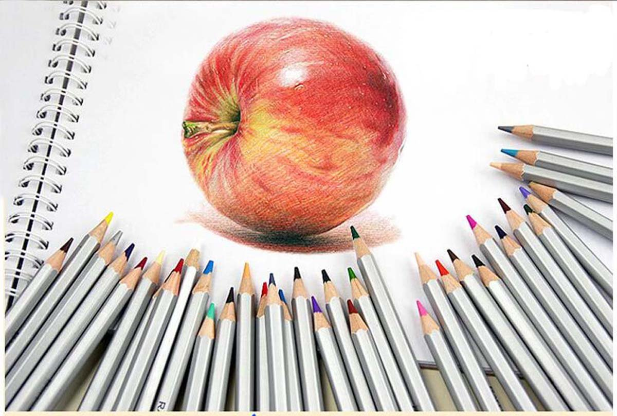 Amazon com bbshop 72 color professional art drawing pencils fine art colored pencils drawing pencils for sketch in metal gift box office products
