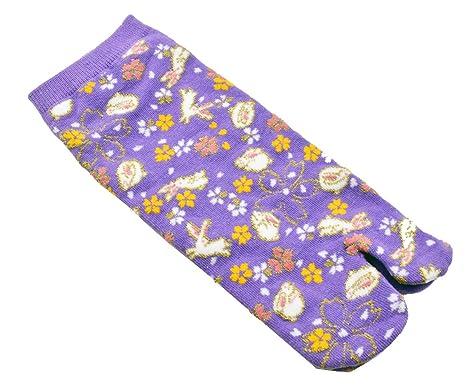 Tabi calcetines bani morado japonés Split 2 par Toe Ninja ...