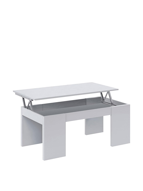 Due-home innovations Kendra Table Basse Blanc Avec Plateau Relevable Blanc 13casa F00530601001_WHITE