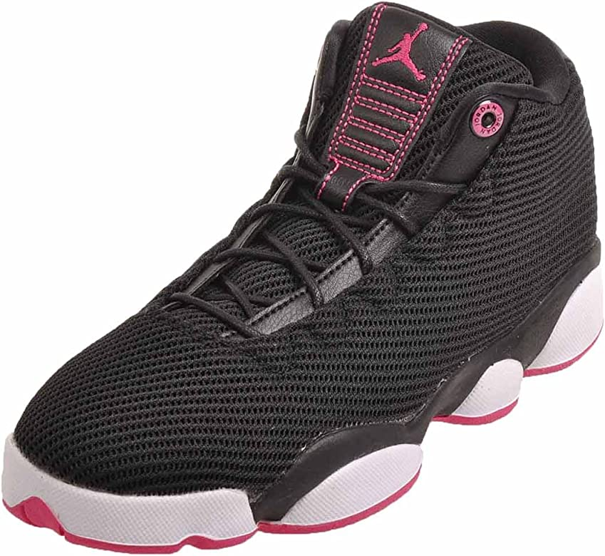 factory authentic f13dd a2704 Jordans Girl's Jordan Horizon Low Walking Shoes Black/Vivid Pink-White