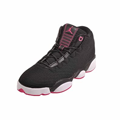 factory authentic 7ecbc 83100 Jordans Girl's Jordan Horizon Low Walking Shoes Black/Vivid Pink-White