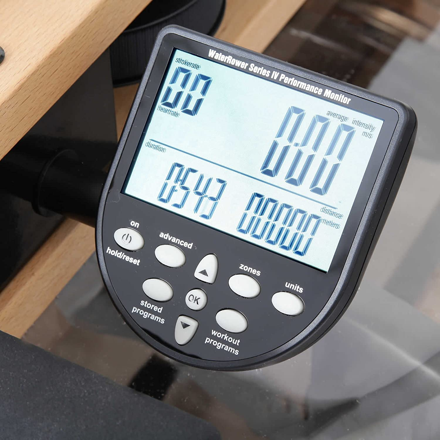 mit S4 Monitor Waterrower Ruderger/ät Buche