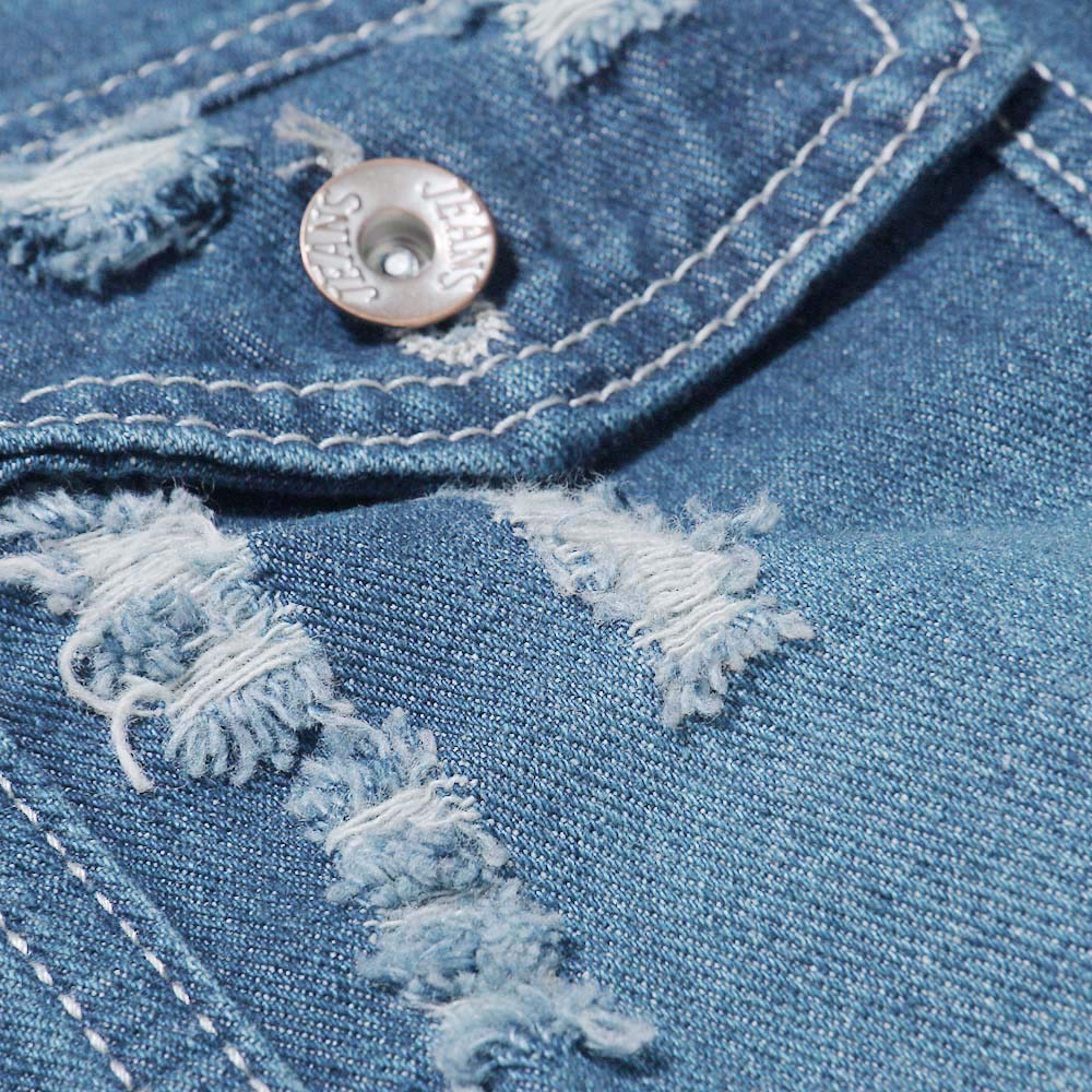 Clearance Men Coat Muranba Vintage Wash Broken Hole Denim Jacket Overcoat at Amazon Mens Clothing store: