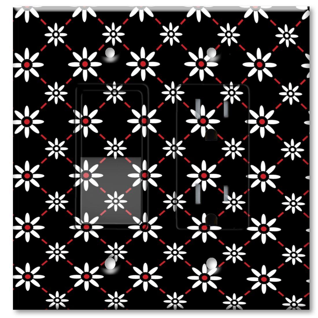 激安特価  Printed壁プレートwith Matchingロッカースイッチおよび Combo/またはコンセント – ホワイトデイジー マルチカラー 856-Printed-Switch-Outlet B00J1W2HPO Combo B00J1W2HPO 856-Printed-Switch-Outlet コンセント付きスイッチ, 白石町:8edf6367 --- svecha37.ru