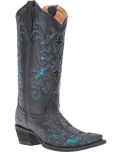 dabd62ff28e Amazon.com | Circle G Women's Fleur De Lis Boot Snip Toe - L5150 | Boots