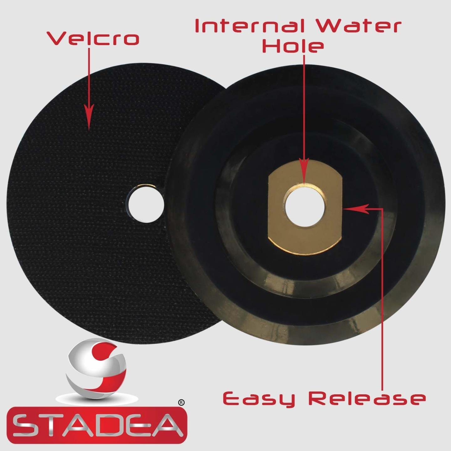 Rubber Backing Pads By STADEA Shop N Save Diamond Tools BRRB05STDR00581P 5 hook and loop backing pad