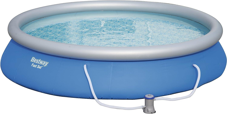 Bestway Fast Set - Piscina redonda con depuradora, diámetro de 457 x 84 cm: Amazon.es: Jardín