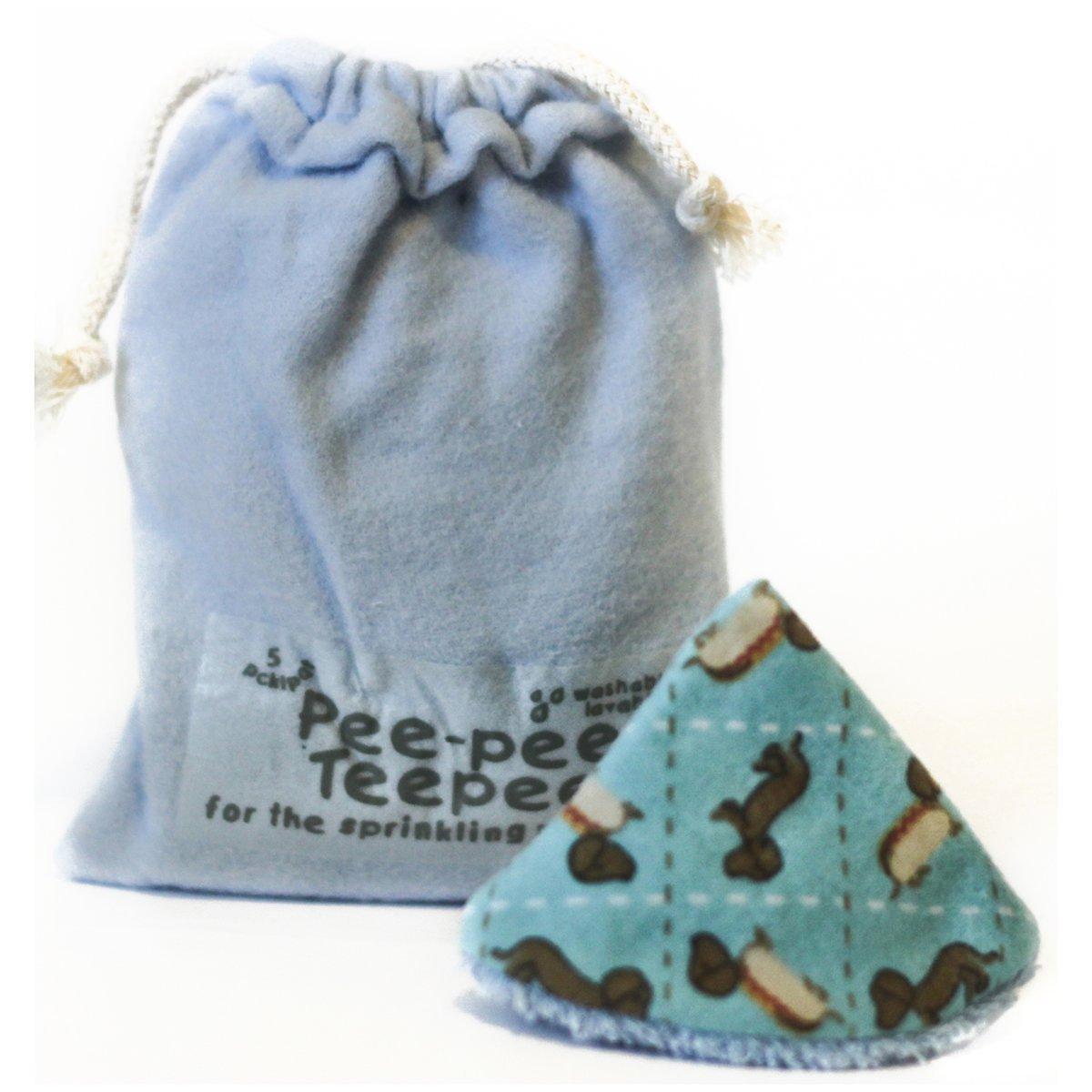 Pee-pee Teepee Weiner Dog Blue - Laundry Bag