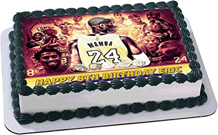 Astounding Amazon Com Kobe Bryant Nba 248 Los Angeles Lakers Edible Cake Funny Birthday Cards Online Fluifree Goldxyz