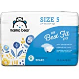 Amazon Brand - Mama Bear Best Fit Diapers Size 5, 31 Count, Bears Print [Packaging May Vary]