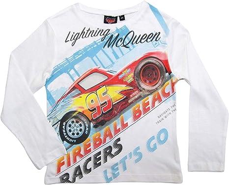 Cars Lightning McQueen T-Shirt Baumwolle 3 Farben Gr 98 104 116 128