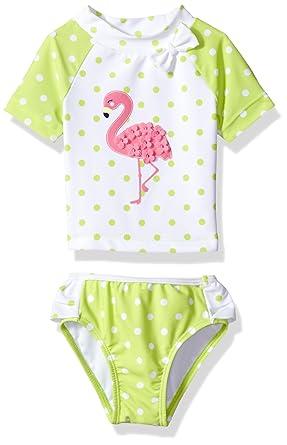 a53f3a74c Amazon.com: Little Me Baby Girls' UPF 50+ 2pc (Top and Bottom) Long Sleeve  Rashguard Set: Clothing