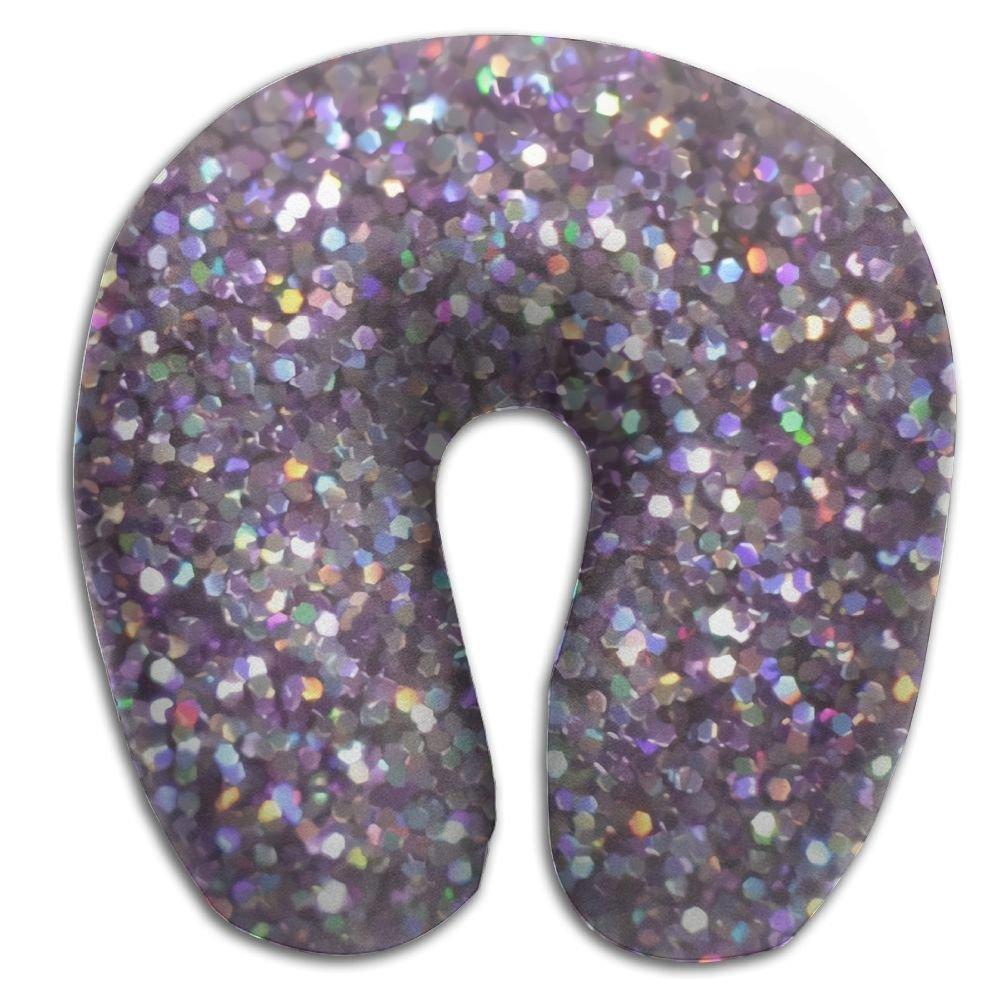 doppyee Glitter Sparkles Shimmer印刷快適旅行メモリーフォームUシェイプ枕、旅行、ホーム、のサポート、首の痛み   B079GTNCX6