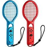 任天堂 Switch Joy-Con Controller KINGTOP 网球拍两件装网球拍,适用于任天堂切换游戏马里奥网球拍