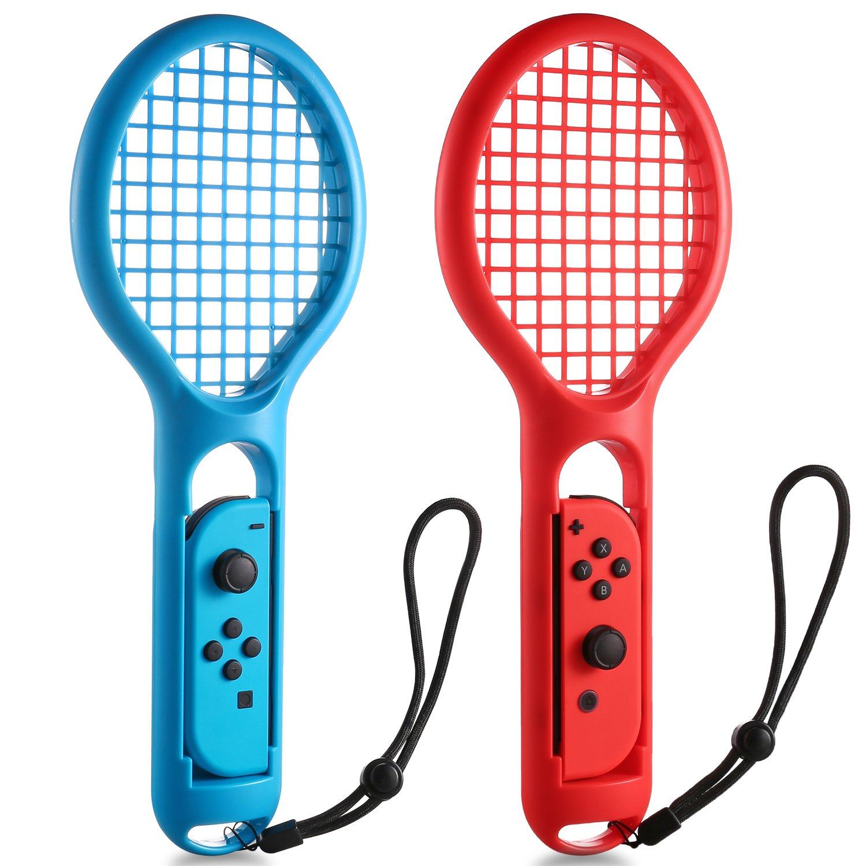 Tennis Racket for Nintendo Switch Joy-Con Controller KINGTOP Twin Pack Tennis Racket for Nintendo Switch Game Mario Tennis Aces by KINGTOP