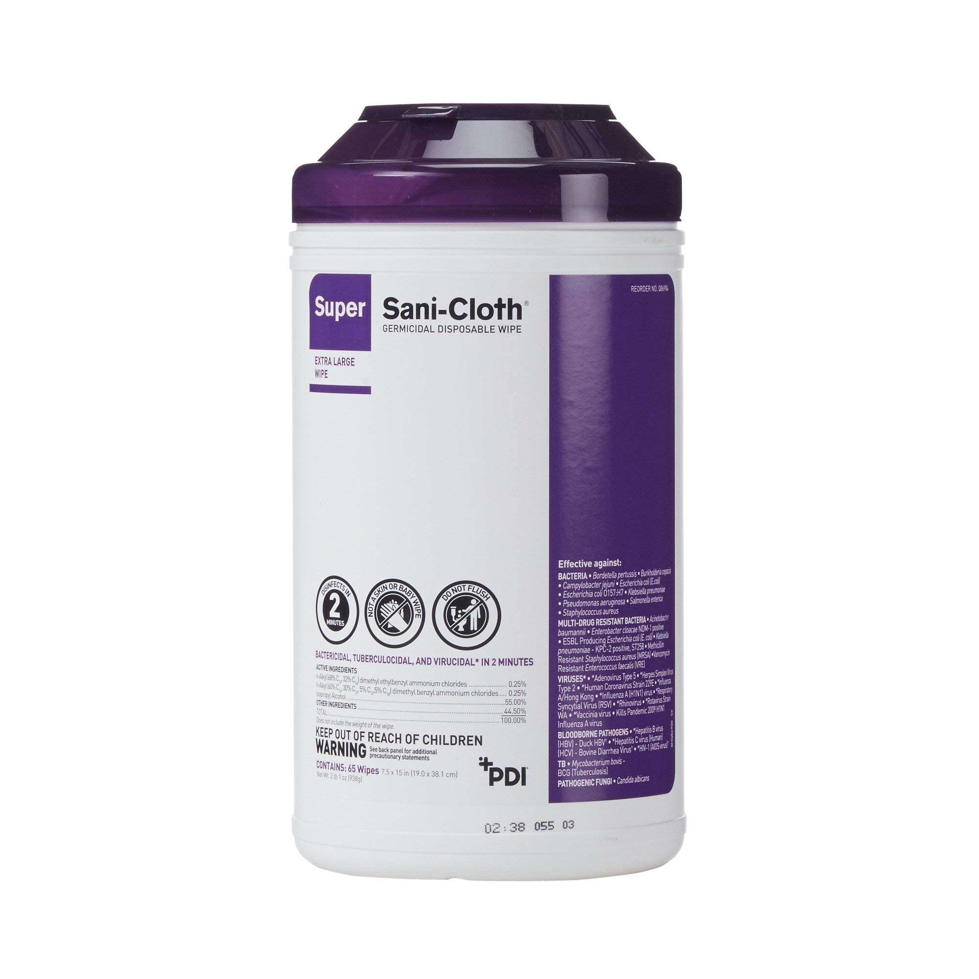 Sani Cloth Disinfecting Wipes (Q86984) 6/Case by PDI