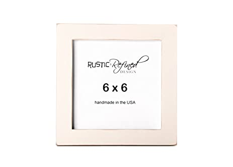 Amazon.com - 6x6 Solid Wood Made in USA Picture Frame with 1 Inch ...