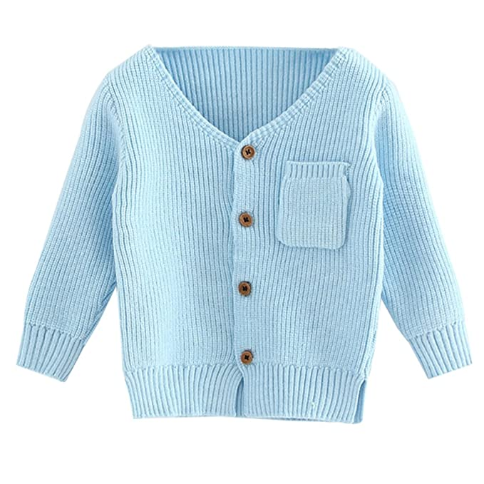 eb72d760b Amazon.com  LOSORN ZPY Toddler Baby Girl Cardigan Cotton Button-Down ...