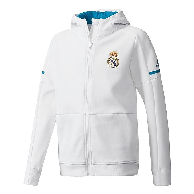 adidas Anth Sqd Y Chaqueta Línea Real Madrid, Niños: Amazon