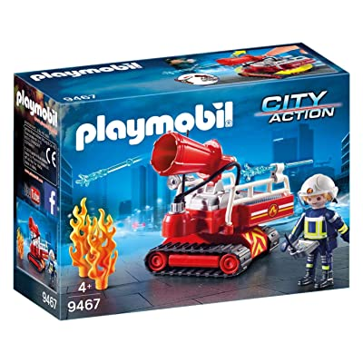 PLAYMOBIL Fire Water Canon: Toys & Games